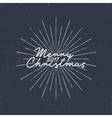 Merry Christmas 2017 lettering Holiday typography vector image