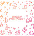 merry christmas outline frame xmas vector image