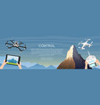 modern air drones for card and remote control vector image vector image