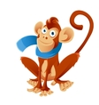 Monkey and the scarf vector image vector image