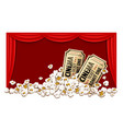 movie theater hall and tickets vector image vector image