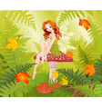 Mushroom Fairy vector image vector image