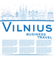 Outline Vilnius Skyline with Blue Landmarks