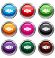 oval belt buckle set 9 collection vector image vector image