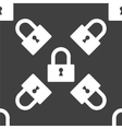 padlock web icon flat design Seamless pattern vector image