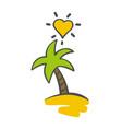 palm tree logo palm island summer concept vector image vector image