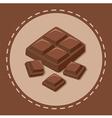 Pieces of Chocolate Block vector image