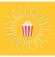 Popcorn bag shining effect Flat vector image vector image