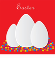 red card for Easter vector image vector image