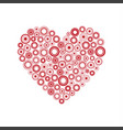 red heart of the rings happy valentines day card vector image vector image