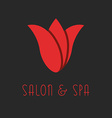 Red tulip logo beauty flower design salon emblem vector image
