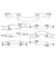 ribbon banners collection of hand drawn sketches vector image vector image