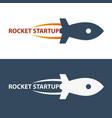 rocket startup business rocket logo vector image vector image