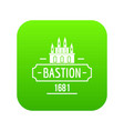 royal bastion icon green vector image vector image
