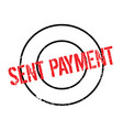 sent payment rubber stamp vector image vector image