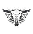 skull bull vintage style t shirt design vector image vector image