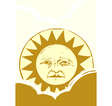 Sun Face and Clouds A vector image vector image