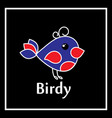 symbol birdy on a black background vector image vector image