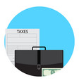 taxes in business icon app vector image vector image