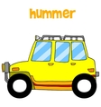 Transportation of yellow hummer vector image vector image