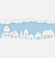 views of the house in winter on a snowy day vector image vector image