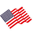 waving flag united states vector image