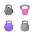 weights icon set cartoon style vector image