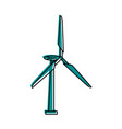 wind turbine icon image vector image vector image