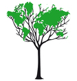 World map tree vector image vector image