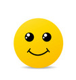 yellow happy smile vector image vector image