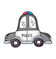 emergency police car transport with siren vector image