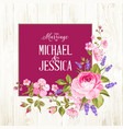 marriage invitation card vector image