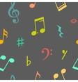 seamless pattern of music notes and icons vector image
