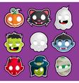 Halloween Head Stickers vector image