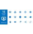15 molecule icons vector image vector image