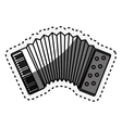 accordion instrument isolated icon vector image