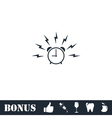 Alarm wake-up time icon flat vector image