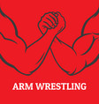 arm wrestling vector image vector image