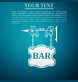 bar signboard icon isolated on blue background vector image vector image