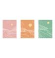 beautiful set of creative outline minimalist vector image