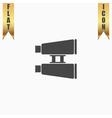 Binocular flat icon vector image vector image