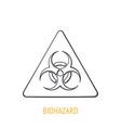 biological hazard symbol outline icon caution vector image vector image