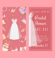 bridal shower invitations set of banners vector image vector image