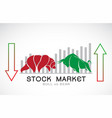 bull and bear symbols stock market trends the vector image