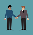 Business people shaking hands during a meeting vector image vector image