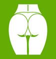 buttocks of girl icon green vector image vector image