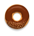 Chocolate donut icon cartoon style