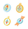 compass icon set cartoon style vector image