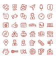 contact us icon set in comic style mobile vector image vector image