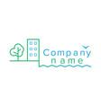 contour logo for a construction company vector image vector image